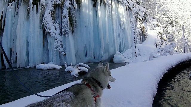 Csodává fagyott Horvátország egyik legszebb természeti látványossága!